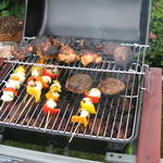 Food on the barbeque